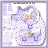 Lilac Girl Back Pack Gift Bag