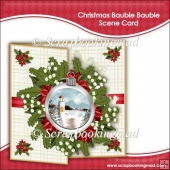 Christmas Bauble Bauble Scene Card