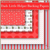 5 Dad's Little Helper Backing Papers Download (C151)