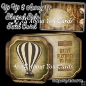 Up Up and Away Shaped Side Fold Card