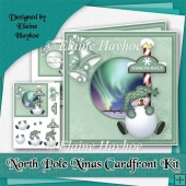North Pole Christmas Cardfront Kit