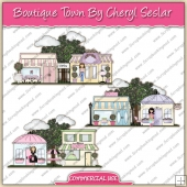 Boutique Town ClipArt Graphic Collection - REF - CS
