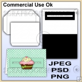 Penny Slider Card & Envelope Template Commercial Use Ok