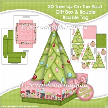 3D Tree Up On The Roof Gift Box