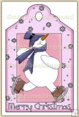 Christmas Snowman Decorative Tag - REF_T11