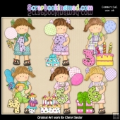 Maggies Birthday Numbers ClipArt Collection