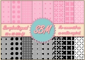 8 PNG Paper Overlays 12 x 12 Designer Resources Pack 2