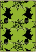 Backing Papers Single - Green Witches & Cobwebs - REF_BP_110