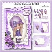 Lilac Girl Scalloped Card Kit