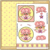 Sweet Flower Girl PDF Decoupage Download