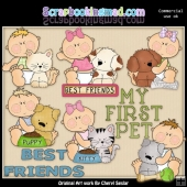 Bouncing Babies First Pet ClipArt Collection