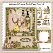 Wine And Cheese Party Easel Card Kit