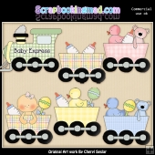 Baby Express ClipArt Graphic Collection