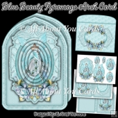 Blue Beauty Pyramage Arch Card