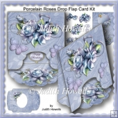Porcelain Roses Drop Flap Card Kit