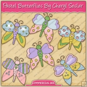 Pastel Butterflies Graphic Collection - REF - CS