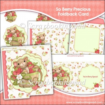 You're Berry Special Scalloped Foldback Card & Envelope