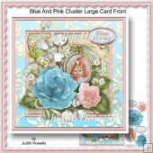 Blue And Pink Cluster Large Card Front