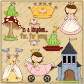 Kingdom Far Far Away ClipArt Graphic Collection
