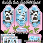 Owl So Cute Tri Fold Card