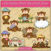 RESALE ART WORK - Little Garden Bears Collection