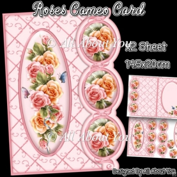 Roses Cameo Card