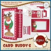 Cute Reindeer Assymetric Fold & Side Panel Card Kit
