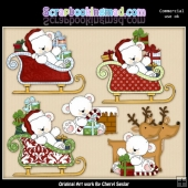 Polar Bears Up On The Rooftop ClipArt Collection