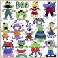 Monster Mash ClipArt Graphic Collection