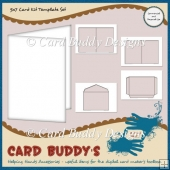 5x7 Card Kit Template Set CU/PU