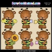 Bailey Bears Beez ClipArt Graphic Collection