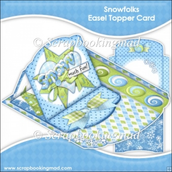 Snowfolks Easel Topper Card