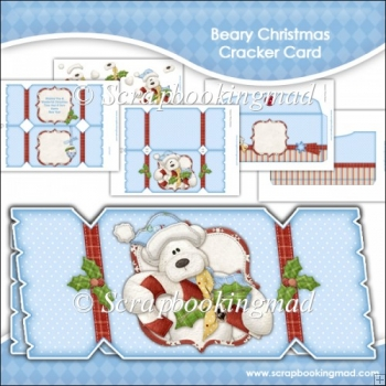 Beary Christmas Cracker Card & Envelope
