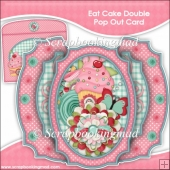 Eat Cake Double Pop Out Card & Envelope
