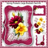 Spring Flowers Large Bracket Card Kit