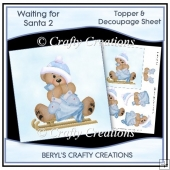 Waiting for Santa 2 - Topper & Decoupage Sheet