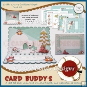 Chilly Chums Scalloped Easel Card Kit