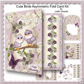 Cute Birds Asymmetric Fold Card Kit