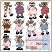 Dancing Angel Bears ClipArt Graphic Collection 1