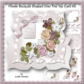 Flower Bouquet Shaped Over The Top Card Kit
