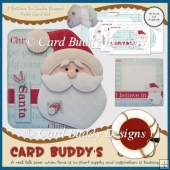 I Believe In Santa Shaped Fold Card Kit