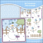 Mr Snowman Decoupage Download