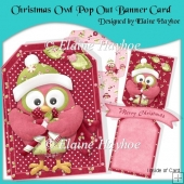 Christmas Owl Pop Out Banner Card