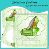 Girly Green Cardfront & Insert