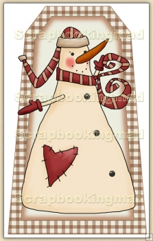 Simply Snowman (1) Decorative Tag