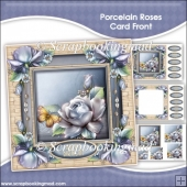 Porcelain Roses Pyramage Card Front Kit