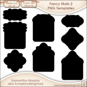 8 PNG Fancy Mats 2 Templates - CU OK