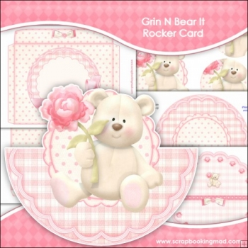 Grin N Bear It Rocker Card Download