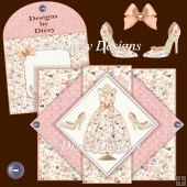 Dress Diamond Pop Out Card
