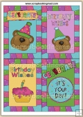 6 Birthday Celebration Quick Cards PDF Download
